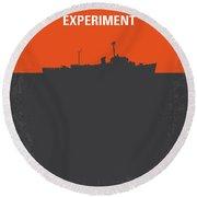 No126 My The Philadelphia Experiment Minimal Movie Poster Round Beach Towel by Chungkong Art