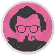 No147 My Annie Hall Minimal Movie Poster Round Beach Towel by Chungkong Art