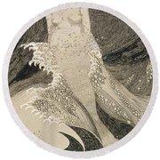 The Mermaid Round Beach Towel by Sidney Herbert Sime