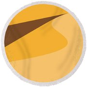 No251 My Dune Minimal Movie Poster Round Beach Towel by Chungkong Art