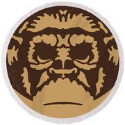 No270 My Planet Of The Apes Minimal Movie Poster Round Beach Towel by Chungkong Art