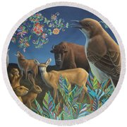 Nocturnal Cantata Round Beach Towel by James W Johnson