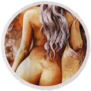 Nymph 02 Round Beach Towel by Emerico Imre Toth