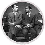 Ocean's Eleven Rat Pack Round Beach Towel by Underwood Archives