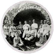 Ohio State Football Circa 1890 Round Beach Towel by Jon Neidert