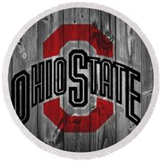 Ohio State University Round Beach Towel by Dan Sproul