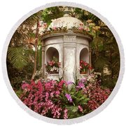 Orchid Display Round Beach Towel by Jessica Jenney