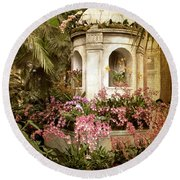 Orchid Exhibition Round Beach Towel by Jessica Jenney