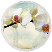 Orchid Heaven Round Beach Towel by Jessica Jenney