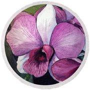 Orchid Round Beach Towel by Irina Sztukowski