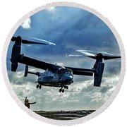 Osprey Approach Round Beach Towel by Benjamin Yeager
