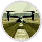 Osprey Takeoff Round Beach Towel by Benjamin Yeager