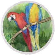 Out For Lunch In The Wild Round Beach Towel by Maria Hunt