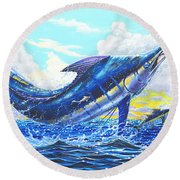 Outrageous Off00129 Round Beach Towel by Carey Chen