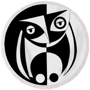 Own Abstract  Round Beach Towel by Mark Ashkenazi