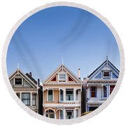 Painted Ladies Round Beach Towel by Dave Bowman