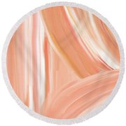 Peach Accent Round Beach Towel by Lourry Legarde