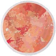 Peach Galore Round Beach Towel by Lourry Legarde