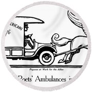 Pegasus At Work For The Allies Round Beach Towel by War Is Hell Store