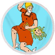 Perseus Constellation Round Beach Towel by Science Source