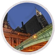 Pershing Square Round Beach Towel by Susan Candelario