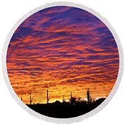 Phoenix Sunrise Round Beach Towel by Jill Reger