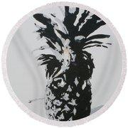 Pineapple Round Beach Towel by Katharina Filus