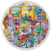 Play Room Round Beach Towel by Mark Gregory