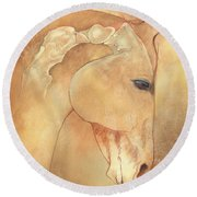 Poll Meet Atlas Axis Round Beach Towel by Catherine Twomey