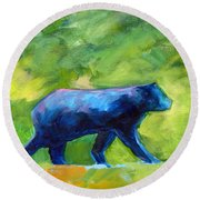 Prowling Round Beach Towel by Nancy Merkle