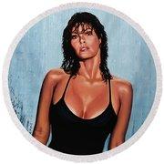 Raquel Welch Round Beach Towel by Paul Meijering