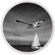 Ride The Wind Round Beach Towel by Laura Fasulo
