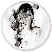 Rihanna Stay Round Beach Towel by Molly Picklesimer