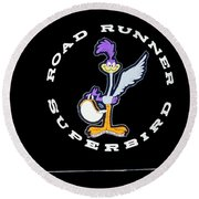 Road Runner Superbird Emblem Round Beach Towel by Jill Reger