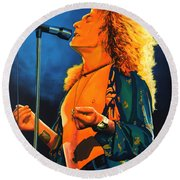 Robert Plant Round Beach Towel by Paul Meijering