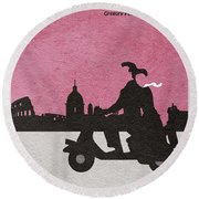 Roman Holiday Round Beach Towel by Ayse Deniz