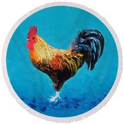 Rooster Emanuel Round Beach Towel by Jan Matson