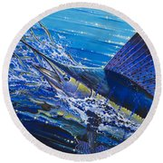 Sail On The Reef Off0082 Round Beach Towel by Carey Chen