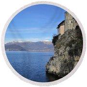 Round Beach Towel featuring the photograph Santa Caterina - Lago Maggiore by Travel Pics