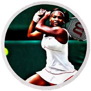 Serena Williams 3a Round Beach Towel by Brian Reaves