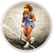 Serena Williams Count It Round Beach Towel by Brian Reaves