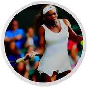 Serena Williams Making It Look Easy Round Beach Towel by Brian Reaves
