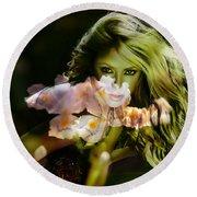 Shakira Round Beach Towel by Marvin Blaine