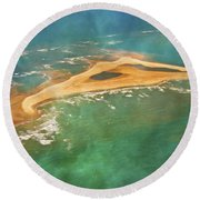 Shark Island Nc Round Beach Towel by Betsy Knapp