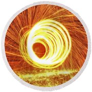 Shooting Sparks Round Beach Towel by Dan Sproul