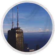 Skyscrapers In A City, Hancock Round Beach Towel by Panoramic Images