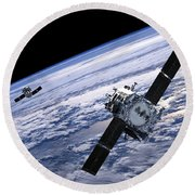 Solar Terrestrial Relations Observatory Satellites Round Beach Towel by Anonymous