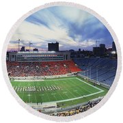 Soldier Field Football, Chicago Round Beach Towel by Panoramic Images