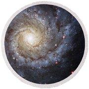 Spiral Galaxy M74 Round Beach Towel by Adam Romanowicz