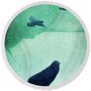 Spirit Bird Round Beach Towel by Priska Wettstein